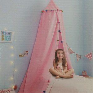 Girls Pom Bed canopy Huntington Home